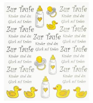 Hobby-Design Sticker Zur Taufe