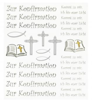 Hobby-Design Sticker Zur Konfirmation