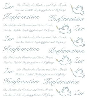 Hobby-Design Sticker Zur Konfirmation II