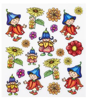 Hobby-Design Sticker Blumen - Kinder